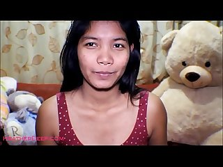 Hd 16 week pregnant Thai Teen heather deep dido Creamy squirt alone in The living room