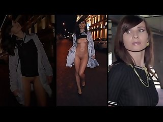 Jeny Smith walks the streets naked with only painted pants. Shocking footage