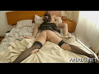 Lewd anal pounding for delightsome chick