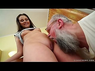 Nasty grandpa fucks liza shay