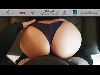 Seahawks fangirl sucks fucks my cock in thong excl sexy juicy ass pov fuck