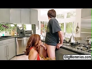 Stepmom and stepdaugter sharing one cock