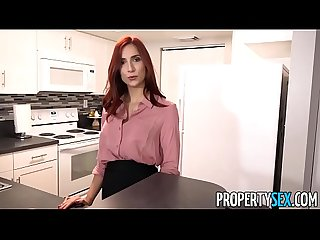 Propertysex hot redhead real estate agent fucks new boss