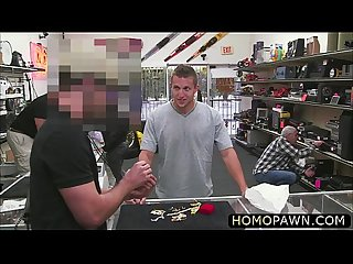 Super hot hunk college dude gets his ass pinned hard by two strangers