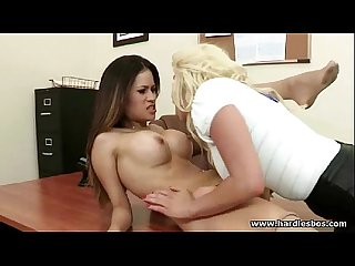 28 sexy busty lesbians share toys and strapon