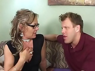 Grandma gets smashed on the bed