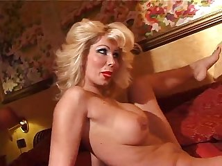 Blonde coguar masturbates alone