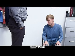 YoungPerps - Hot Black Security Officer Fucks A Cute Thief�s Tight Hole