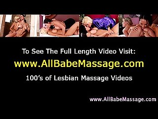 Masseuse lesbian and client pussy oral action