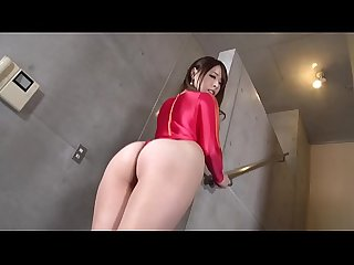 MIU High-leg leotard red (part1) legs-fetish image video no sound solo