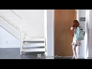 Passion hd tiny redhead teen dolly little Welcome home fuck