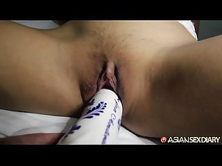 Asian sex diary super cute young babe babe gets big white cock