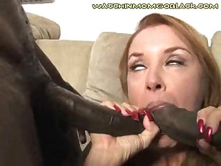 Son sees mom dp black cocks