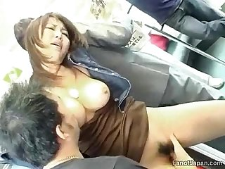 A Young asian girl is on A train when two guys start from http colon sol sol alljapanese period net