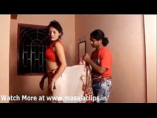 Bhabhi hot enjoyment with young guy in red panty
