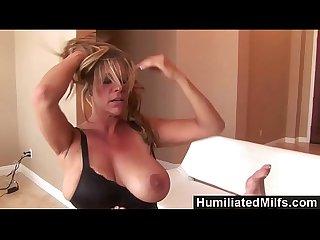 Humiliatedmilfs femdom debi diamond fucks ginger lynn with her foot