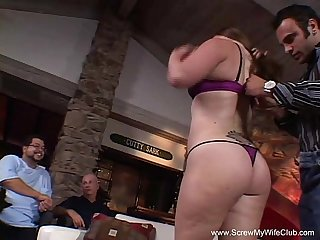 Amateur bbw housewife learns to swing