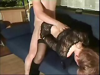 Horny elderly fucking his step daughter