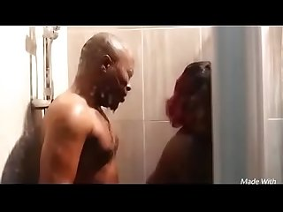 Nigerian couple fuck in shower