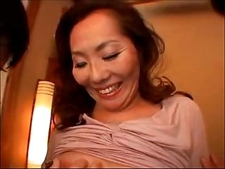 lives.pornlea.com Mature asian fucked hard by two young man