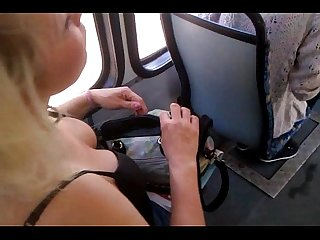 Candid titts on tram(polish mature)