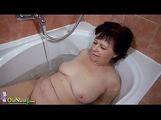 OldNanny Two hot lesbian licking and masturbating