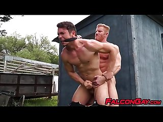 Young gay roughly ass fucked by muscular blond officer