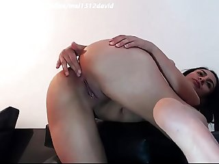 Hard anal sex and masturbation of a latina couple from Colombia on SexoWebcam.Online