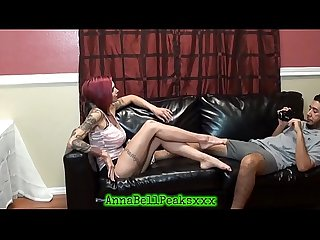 Big Tit Anna Bell Peaks Gives Hot Foot Job