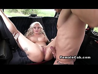 Handsome guy fuck female fake cab driver in public