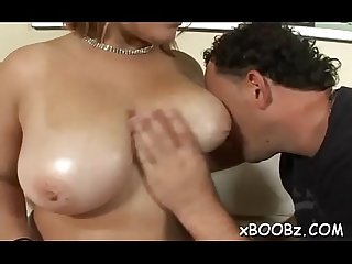 Wild fuck specific for a busty babe