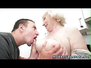 Grandmother gets mouthful