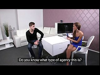 Big cock guy fucking female agent in office