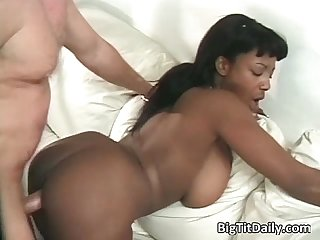White dude fucks big tit ebony slut