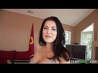 Stunning Valerie herrera fucked on a pool table