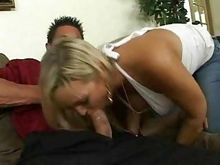 Abbey Brooks Taking Tommy's Gun in Her Mouth
