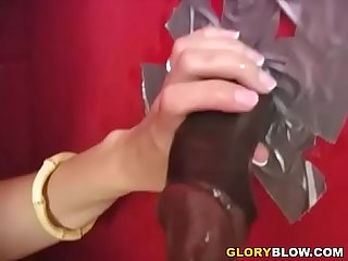 Hairy Brunette Lauren Phoenix Receives Facial Cumshot From A BBC - Gloryhole