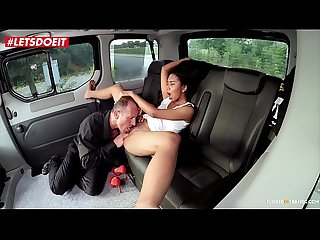 VIP SEX VAULT - Asian Teen gets her Pussy Stretched and Jizzed in the Pick Up Taxi (Killa..