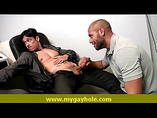 Gay hunky lovers blow and fuck their hot body 7