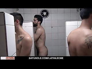 LatinLeche - Horny Guys Fuck Cute Latino In The Bathroom
