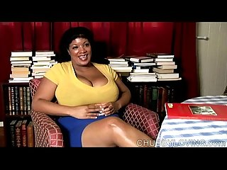 Big belly boobs booty black bbw plays with her fat juicy pussy for you