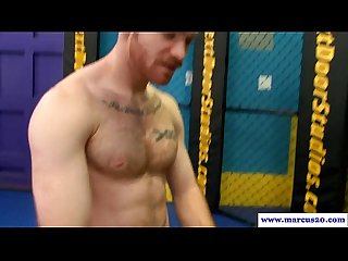 Ginger gay drilling muscled straight guy