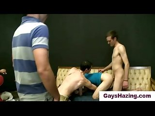 Gay fraternity brothers assfucked by straight guys in initiation