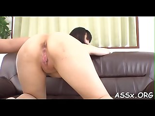 Erotic oriental pussy shaving and anal invasion