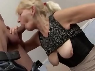 Granny blonde suck and cum in your mouth