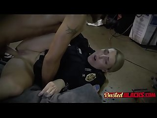 Big tits babes in cop uniforms cumming hard thanks to huge black cock