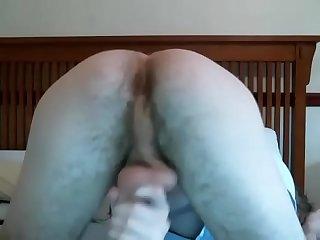 Blond man with big ass