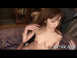 Excited oriental gives fantastic blowjob after deep fingering