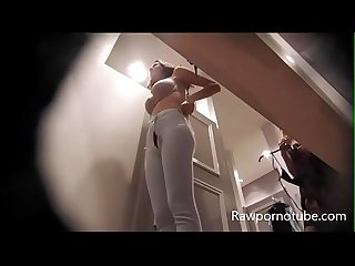 Dressing Room Spy Cam Brunette