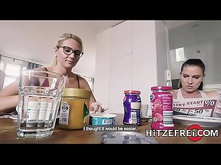 HITZEFREI Curvy German blonde fucked hard in lingerie